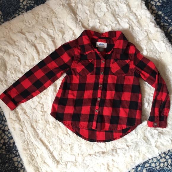 5bc6b281 Old Navy Shirts & Tops | Toddler 5t Redblack Plaid Button Buffalo ...